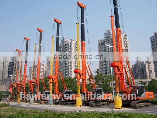 HF-YD7 functional full hydraulic pile driver for foundation construction