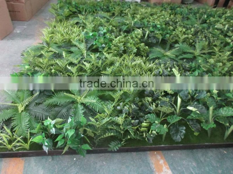 hot sale artificial green plant wall/artificial green backdrop for sale