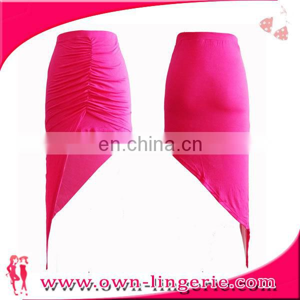 New fashion ladies hot sexy side slit skirt slim cotton pencil skirt