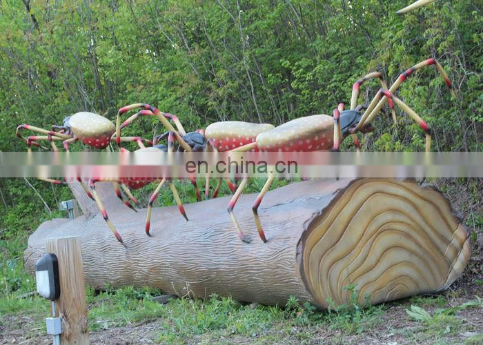 Fiberglass Spider Model For Garden Decorations