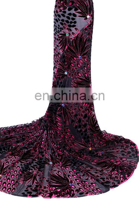On sale african handcut velvet lace with stone