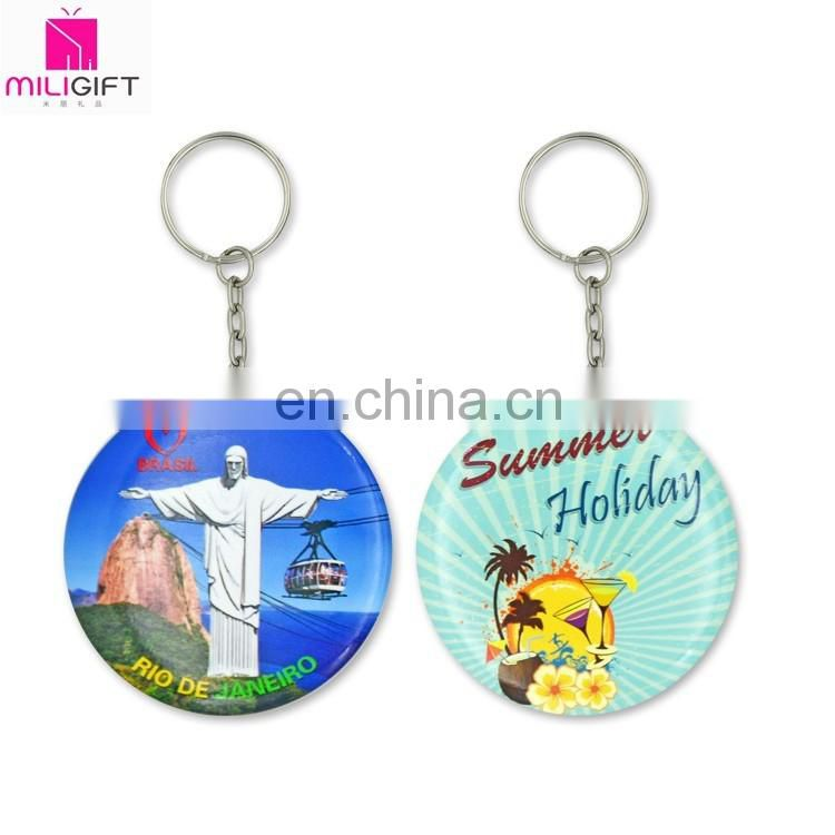 2016 58mm high quality metal mirror key ring