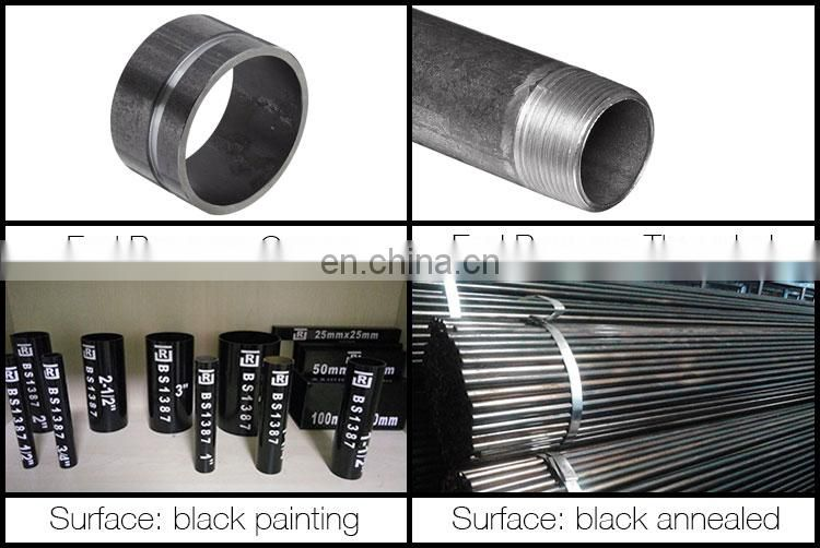 Carbon steel pipe welded steel tube 4mm thick wall round steel pipe for construct