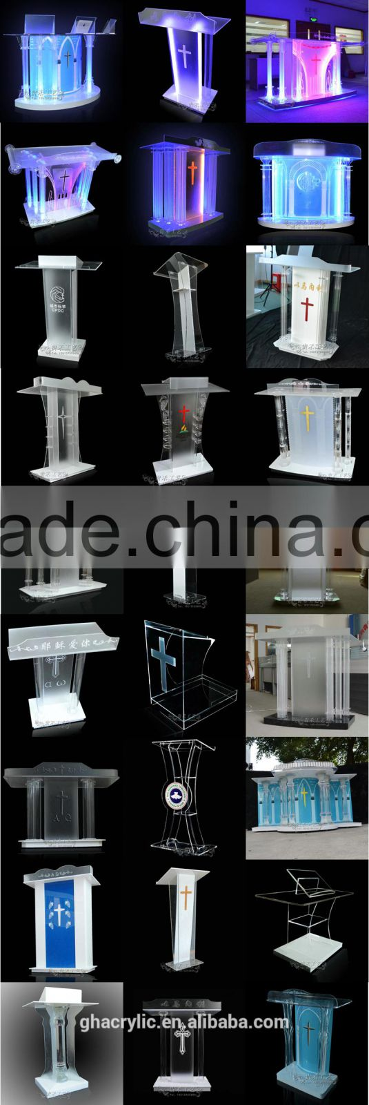 GH-RZ246 Modern design acrylic wine rack,high quality acrylic liquor holder, acrylic beverage display
