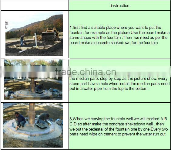 lying nude woman garden antique nature stone fountain NTMF-S511S