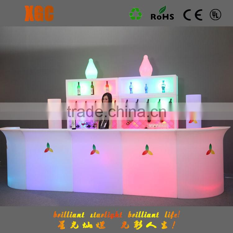 Bar tables lighting, glow table 4 pcs a set