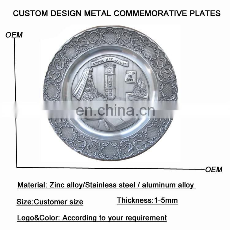 hot sell custom wholesale decorative metal plates