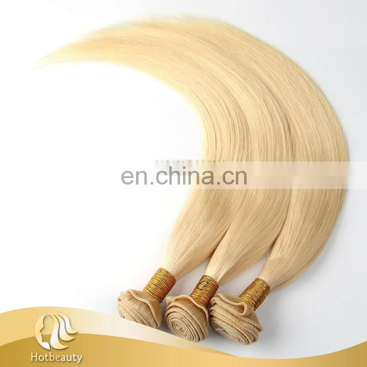 613 eurasian hair virgin silky straight blonde russian bouncy hair extensions for lady