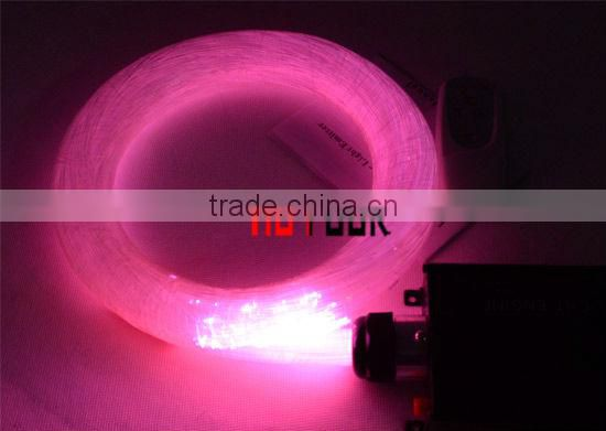fiber optic cable - transmitting light from end to end - 2m length