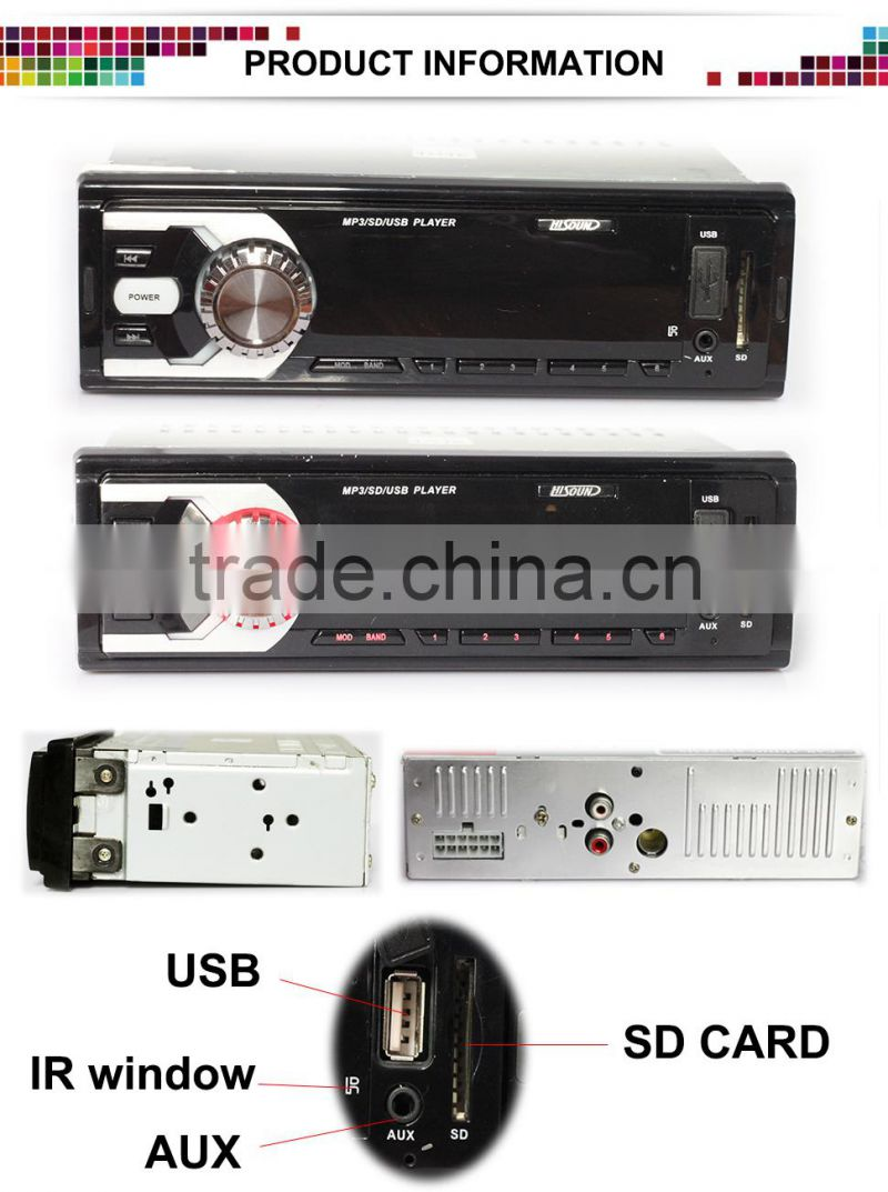 2015 LED car cassette player with usb