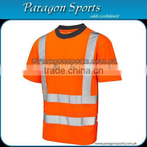 Hi-vis reversible safety bomber jacket with Reflective Tape, Orange color