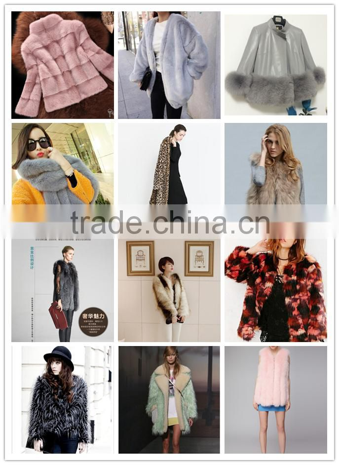 Super quality low price short faux rabbit fur coat pure printed lady fake fur short jackets