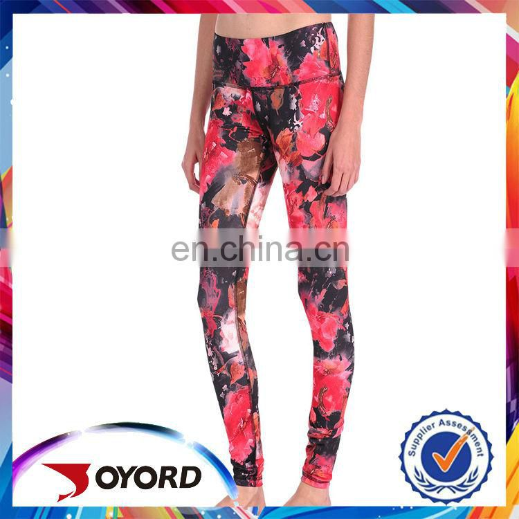 China printed breathable yoga fitness apparel