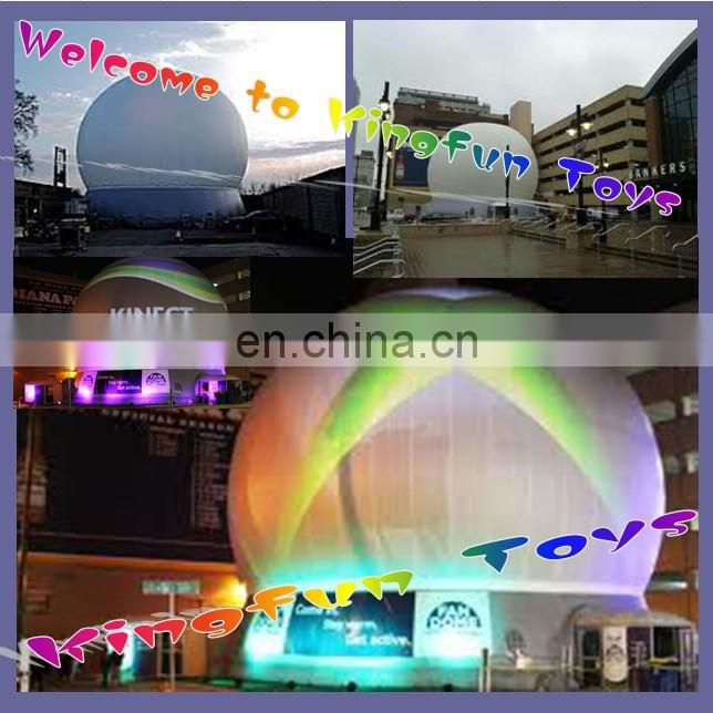 Lighting inflatable projection screen dome for advertising