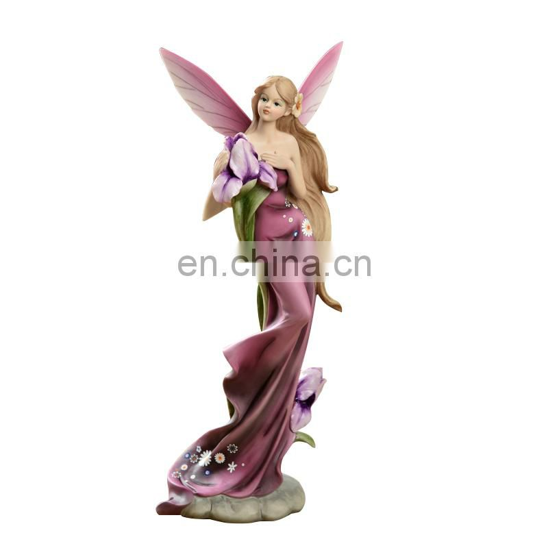 originality beautiful purple angel figure for room decoration