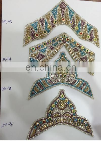 wholesale hot fix crystal sheet decoration rhinestone iron on transfers shoes upper patches