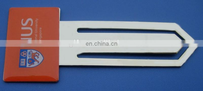 National University Of Singapore Metal Paper Clip Bookmarks