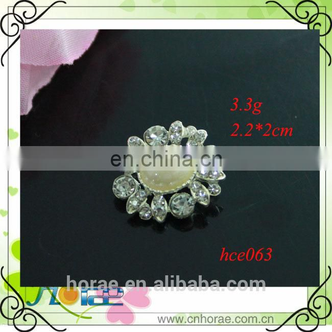 Alloy Rhinestone button for Hair Accessory,pearl button,strass button