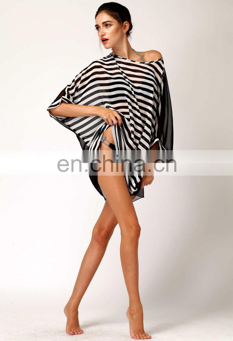 Batwing Sleeve Beach Bikini Cover Up Dress