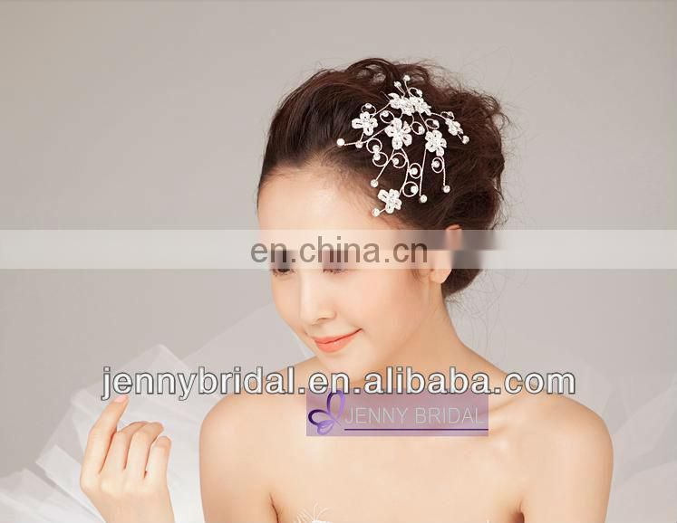 BHA004 elegant pageant crown chic Jewelry comb Wedding hair Accessories diamond cheap tiara