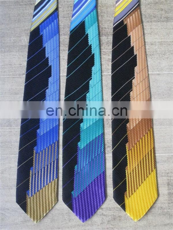 Excellent quality antique corporate linen print necktie