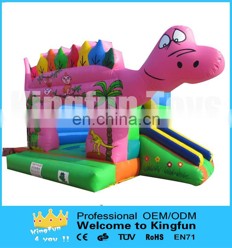 Dragon inflatable animal jumper with slide