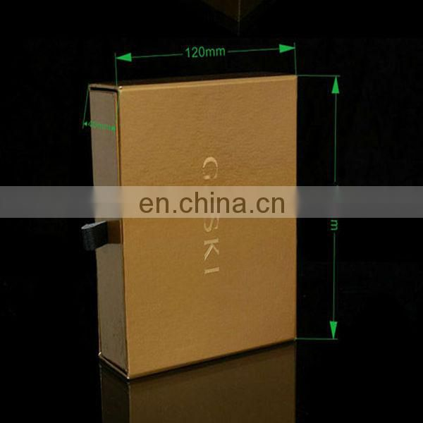 2017 New design Black Drawer Box For T-shirt Packing Hot Sale In Alibaba