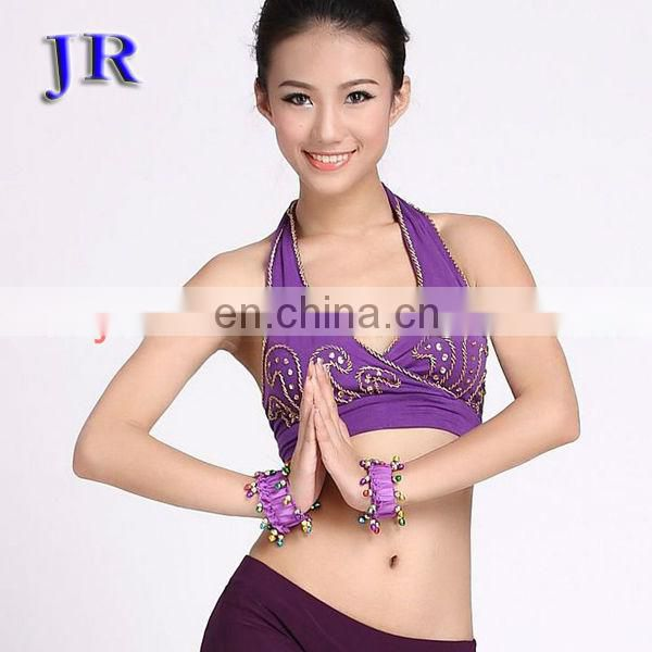 High mercerized cotton sexy hot drill belly dance bra top for women S-3004#