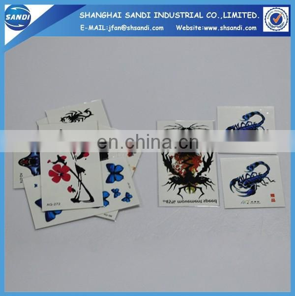 hot sale promotional hand custom temporary tattoo