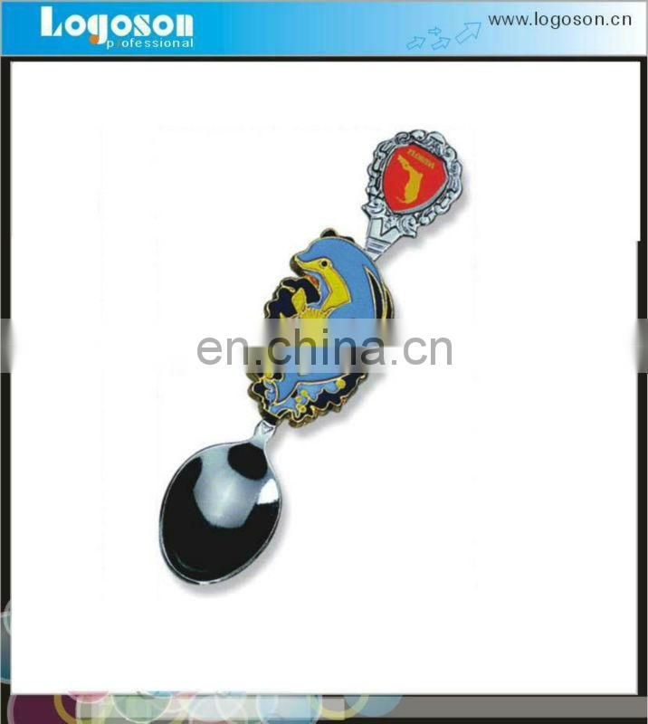 Custom Tourist Souvenir Collection Spain Bull Shape Metal Spoon