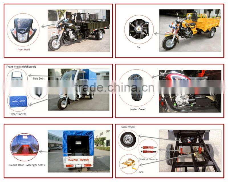 2015 Product 150cc Motorized Trike 150cc Cars For Cargo Use With 4 Stroke Engine / 3 Wheels For Sales