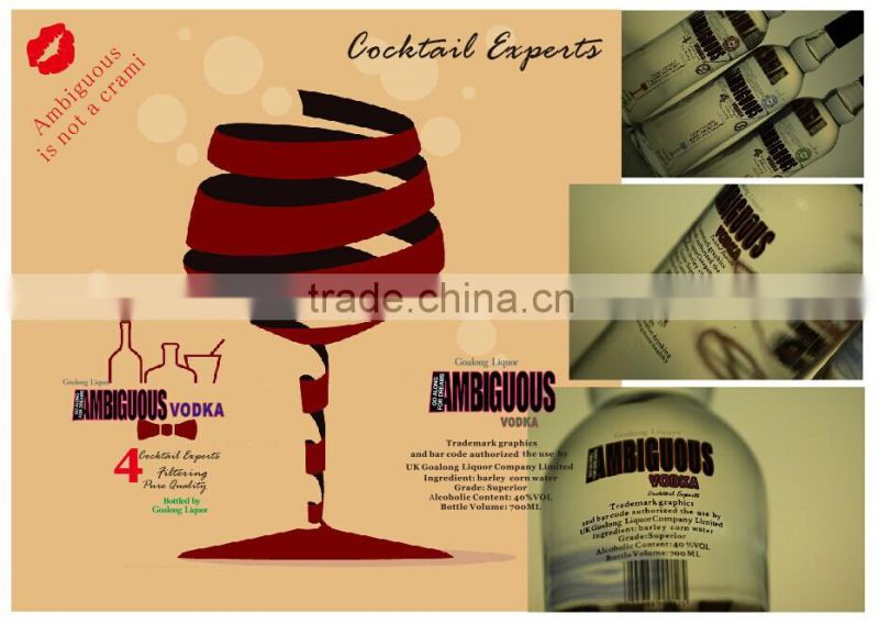 High quality wholesale vodka liquor sales from vodka factory