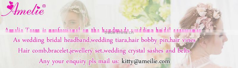 Wedding Hair Accessories Green Willow Bridal Crystal Pearl Hair Tiara Crown Pearl Headband Queen Headpiece Dress Princess Tiara