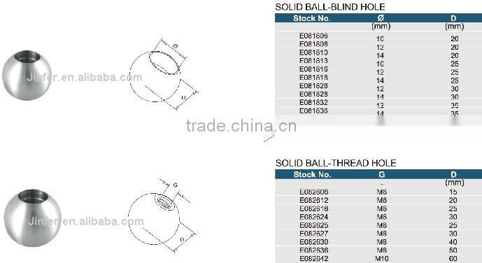 SS/Stainless steel Solid Ball-blind Hole
