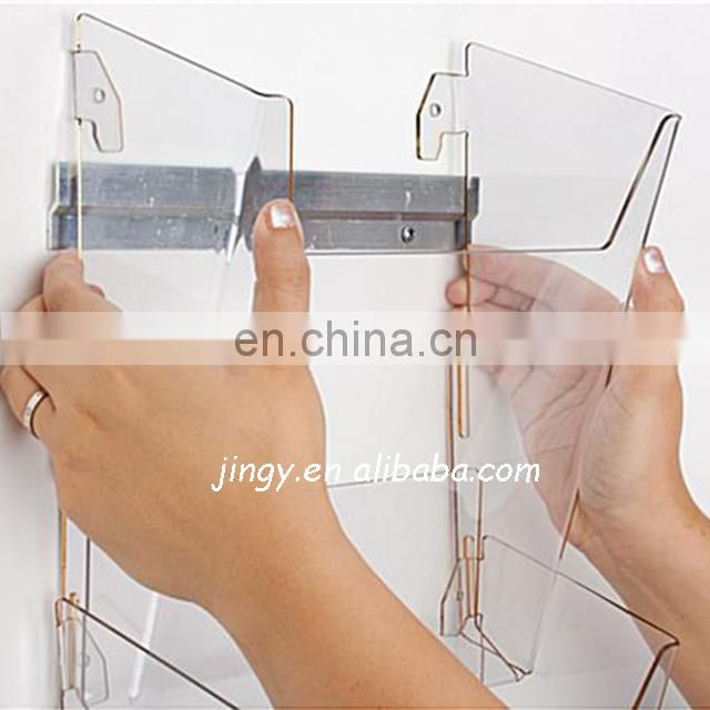 transparent distinct wall hang acrylic clear magazine holder