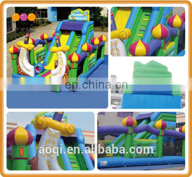 AOQI most popular Aladdin slide fun city/cheap inflatable fun city