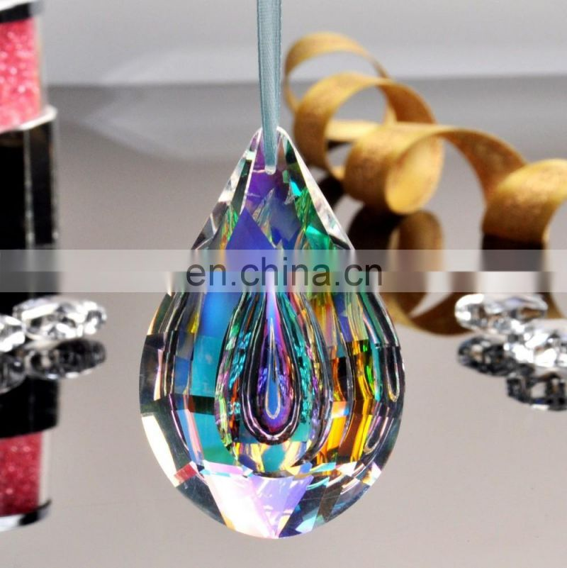 Colorful Chandelier Glass Crystals Lamp Prisms Parts Hanging Drops Pendants