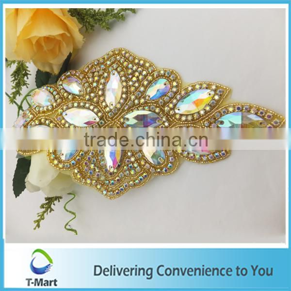 new design rhinestone bridal applique