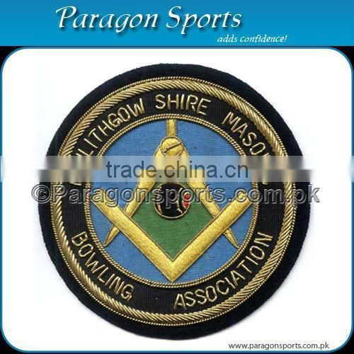 Handmade Bullion Embroidered Uniform Blazer Badge PS-120