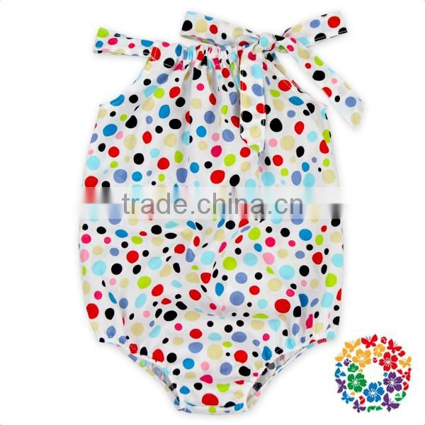 Arrow printing cotton summer baby clothing children boutique sleeveless baby summer bubble romper