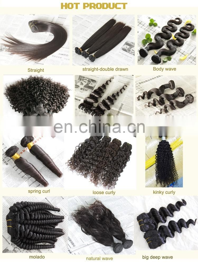100% raw virgin brazilian unprocessed human hair extension