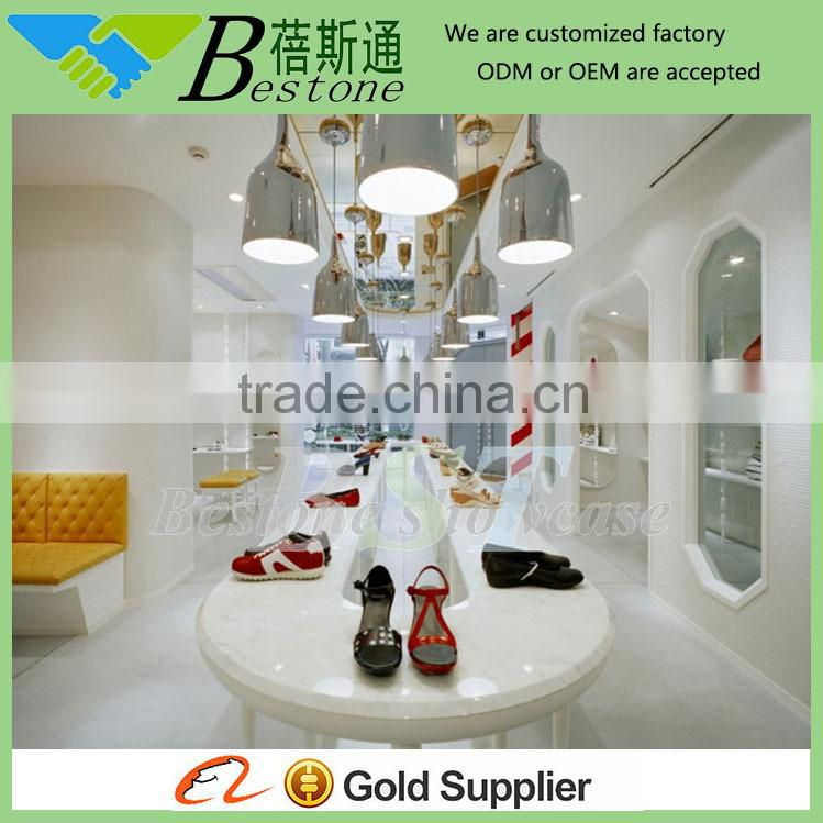 high quality modern pure white wood shoe rack furniture for shoe store