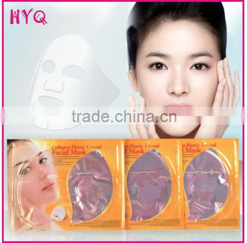 Skin care New Pink Collagen Crystal Facial Mask Whitening and Moisturizing and Anti-Aging Face Mask
