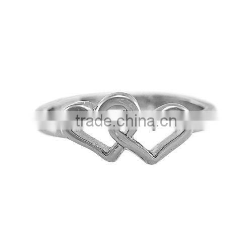 Gold Love U Heart shape Wedding ring for lovers