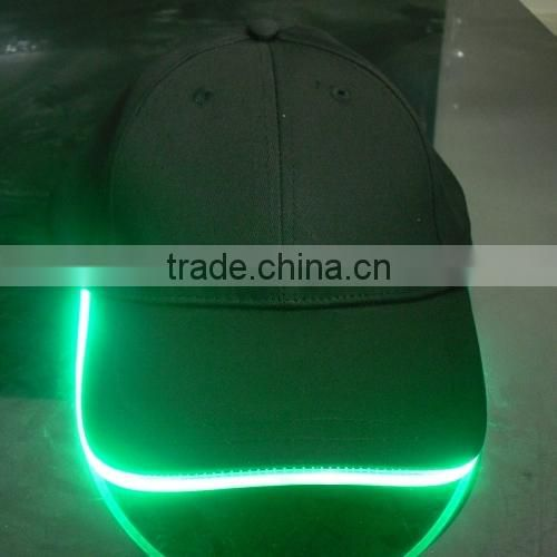 Cotton cutom led cap,led baseball cap,led lights cap