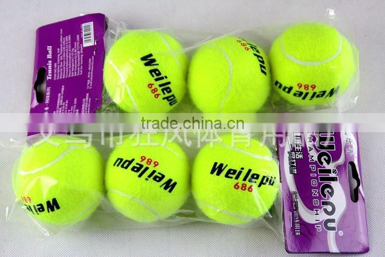 promotion colored custom bulk eco-friendly soft rubber tennis ball professional training tennis ball
