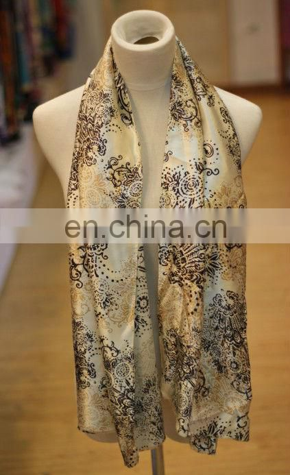 2013 classic flower digital print silk fabric