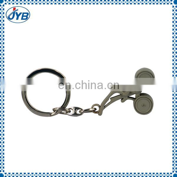 Promotional Shining Fake Gold plating wedding gift key chain