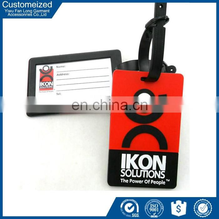 Cheap wholesale pvc plastic luggage name tag