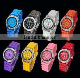 2012 Vague Replicaaa Geneva Silicone Jelly Watches,promotional diamond watch with 5 ATM.